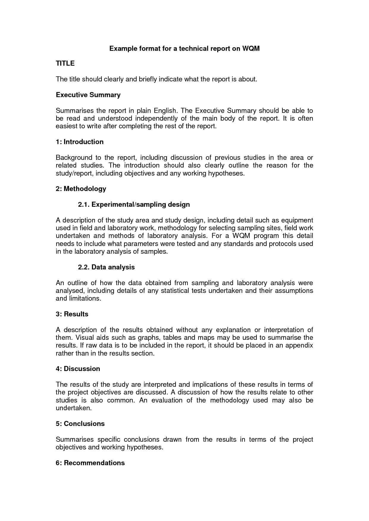 10+ Technical Report Writing Examples - Pdf | Examples Intended For How To Write A Work Report Template