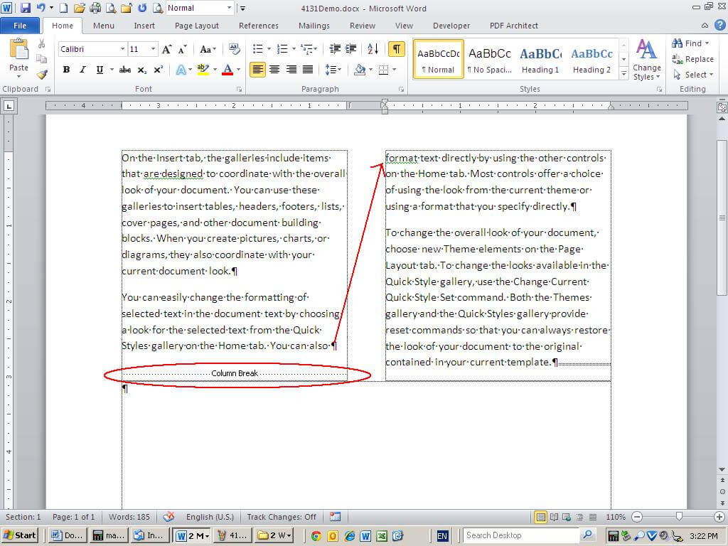 10 Tips For Working With Word Columns - Techrepublic pertaining to 3 Column Word Template