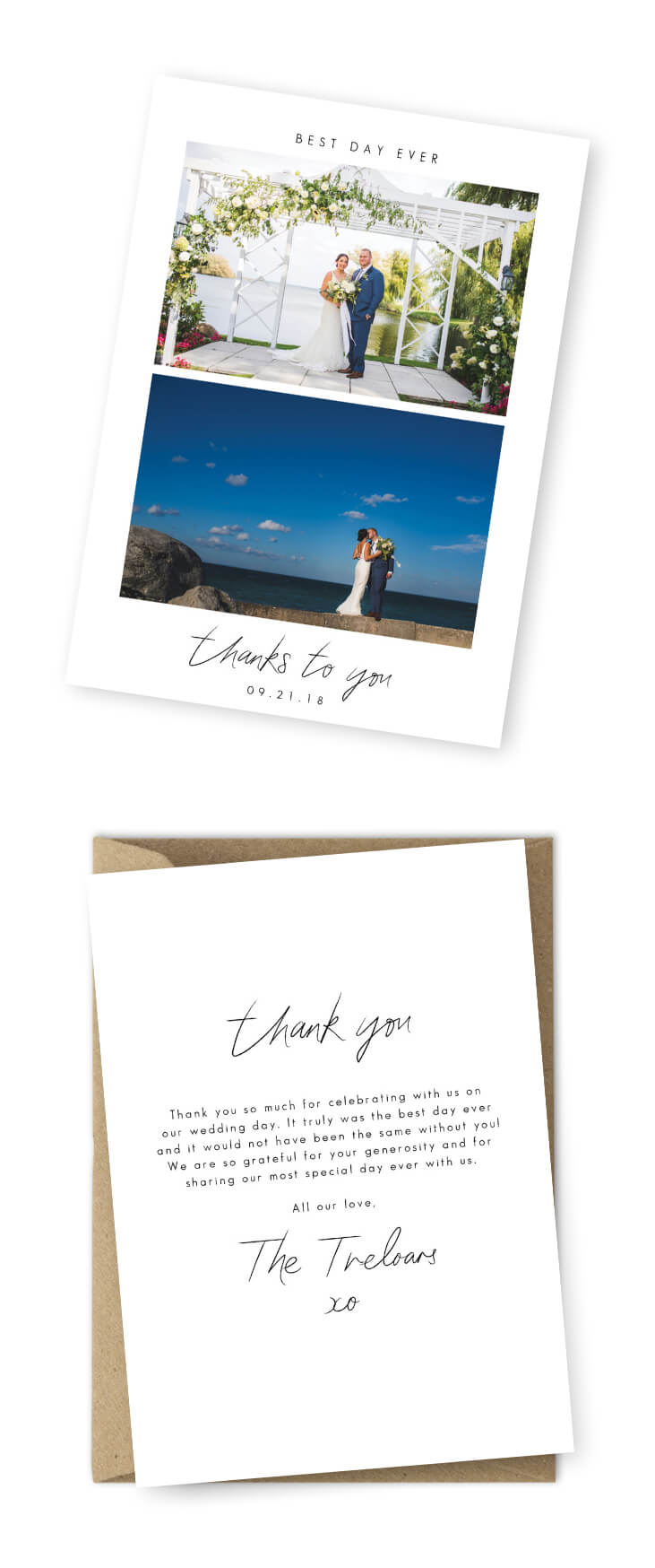 10 Wording Examples For Your Wedding Thank You Cards Within Template For Wedding Thank You Cards