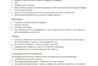 10+ Workplace Investigation Report Examples – Pdf | Examples in Sexual Harassment Investigation Report Template