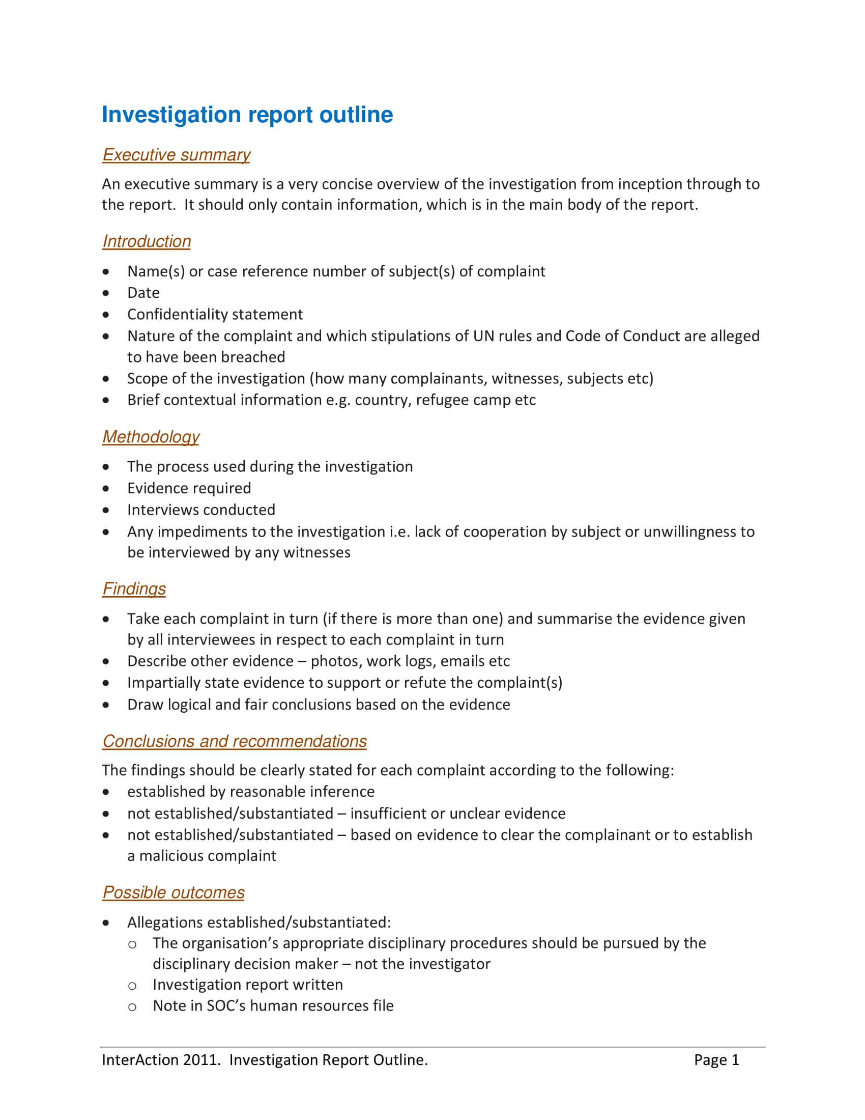 10+ Workplace Investigation Report Examples - Pdf   Examples Throughout Workplace Investigation Report Template