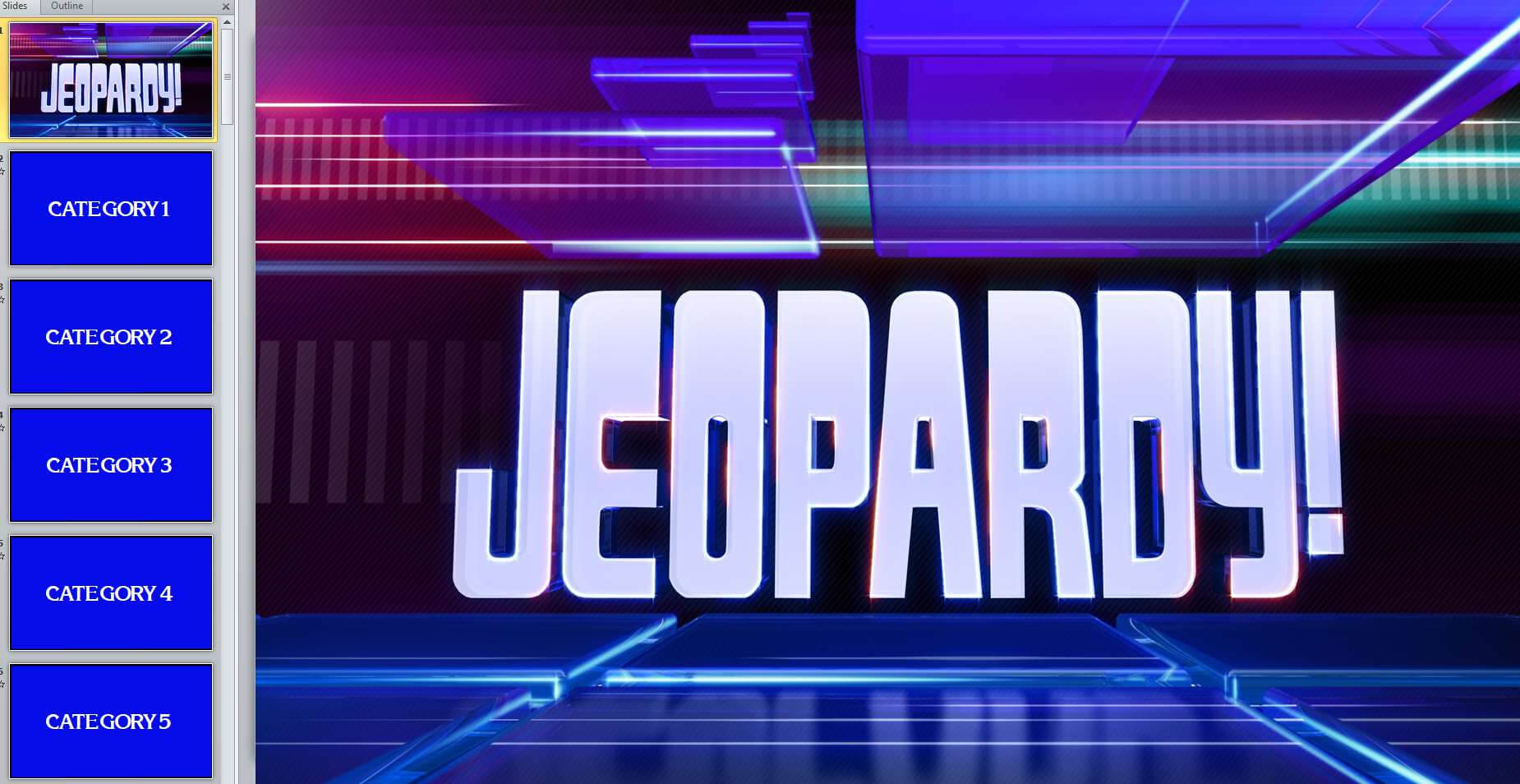 11 Best Free Jeopardy Templates For The Classroom with Quiz Show Template Powerpoint