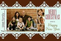 11 Free Templates For Christmas Photo Cards Within Free Christmas Card Templates For Photographers