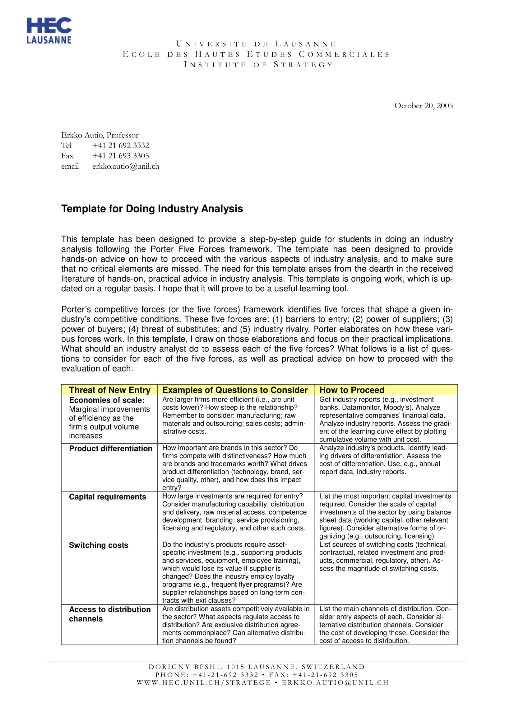 11+ Industry Analysis Examples – Pdf | Examples In Industry Analysis Report Template