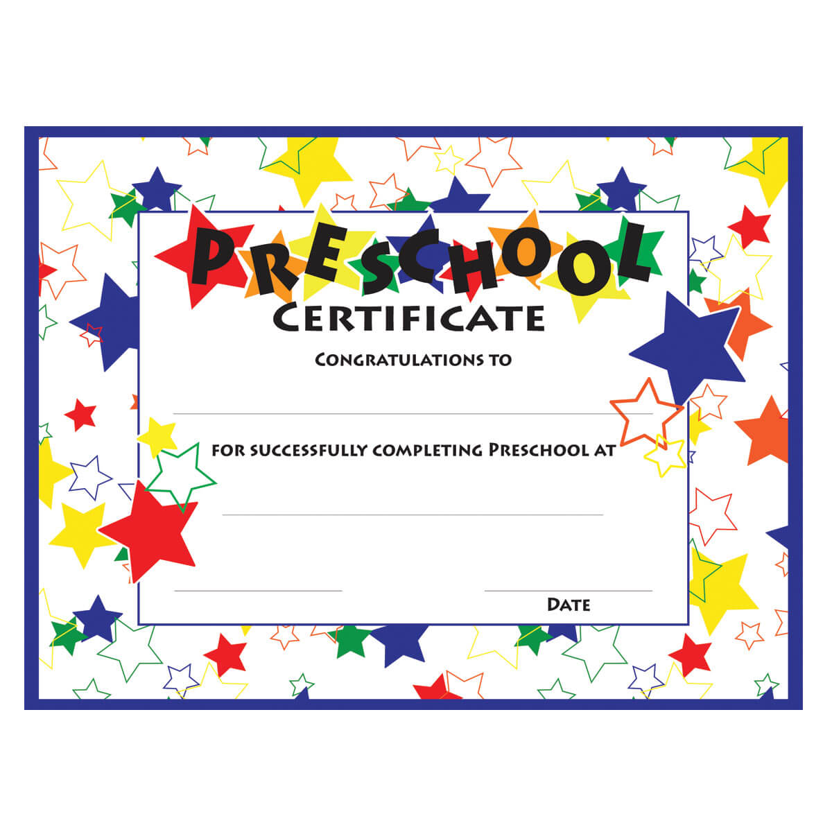 11+ Preschool Certificate Templates - Pdf | Free & Premium throughout Free School Certificate Templates