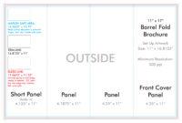 "11"" X 17"" Barrel Fold Brochure Template – U.s. Press in Brochure 4 Fold Template"