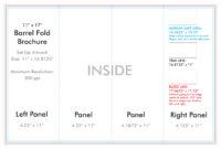 "11"" X 17"" Barrel Fold Brochure Template – U.s. Press pertaining to Brochure Folding Templates"