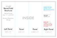 "11"" X 17"" Barrel Fold Brochure Template – U.s. Press with Brochure 4 Fold Template"