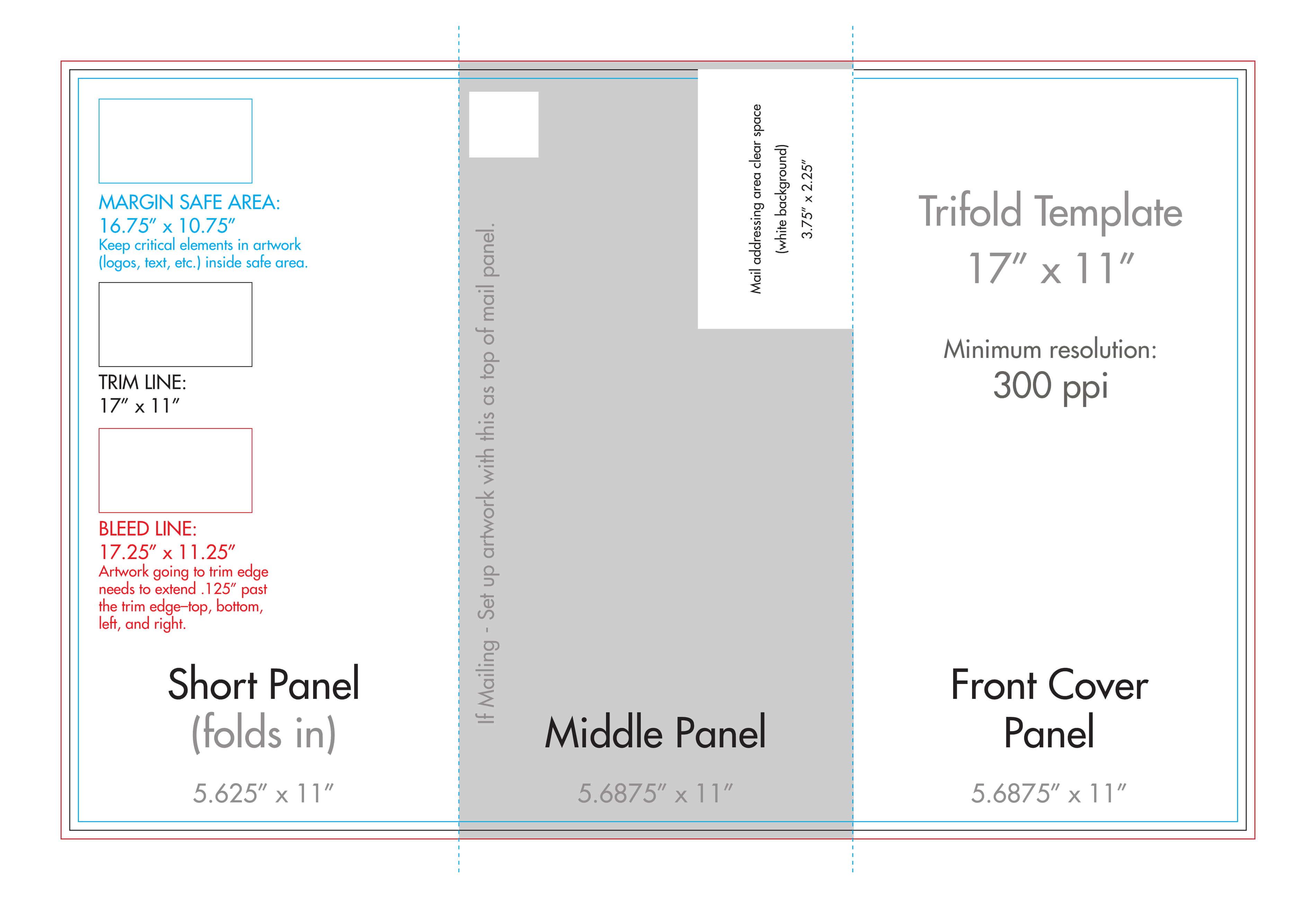 "11"" X 17"" Tri Fold Brochure Template - U.s. Press Throughout 11X17 Brochure Template"