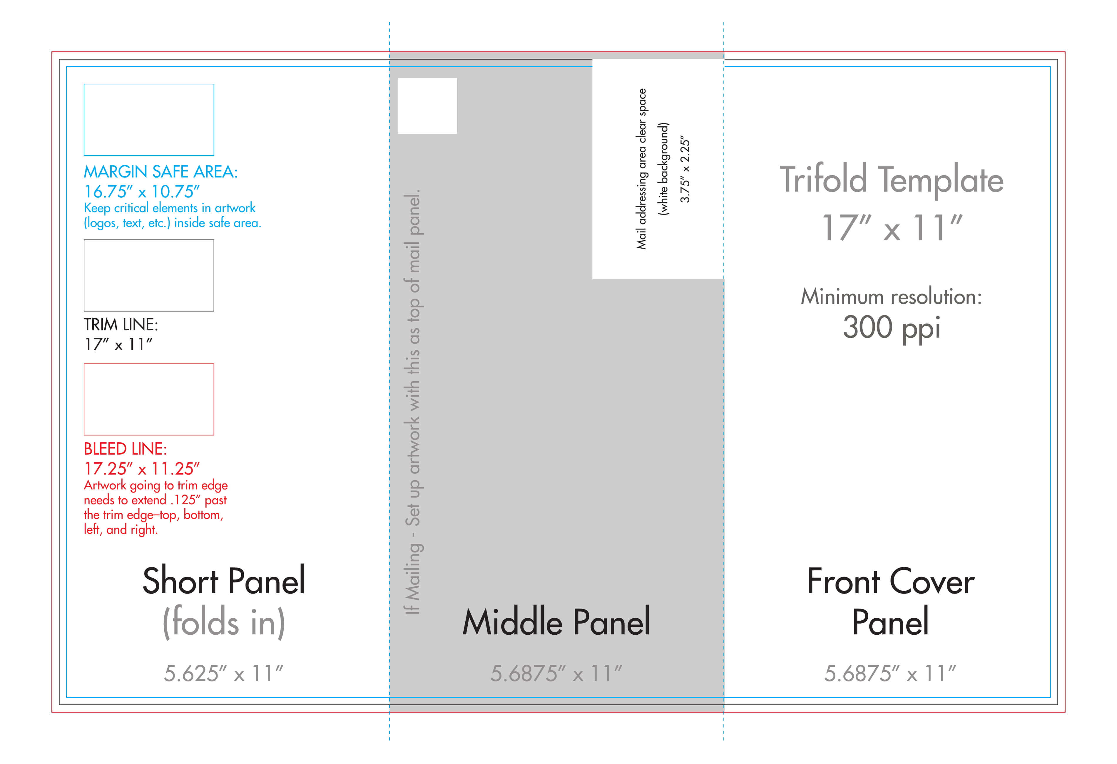 "11"" X 17"" Tri Fold Brochure Template – U.s. Press With Regard To Three Panel Brochure Template"