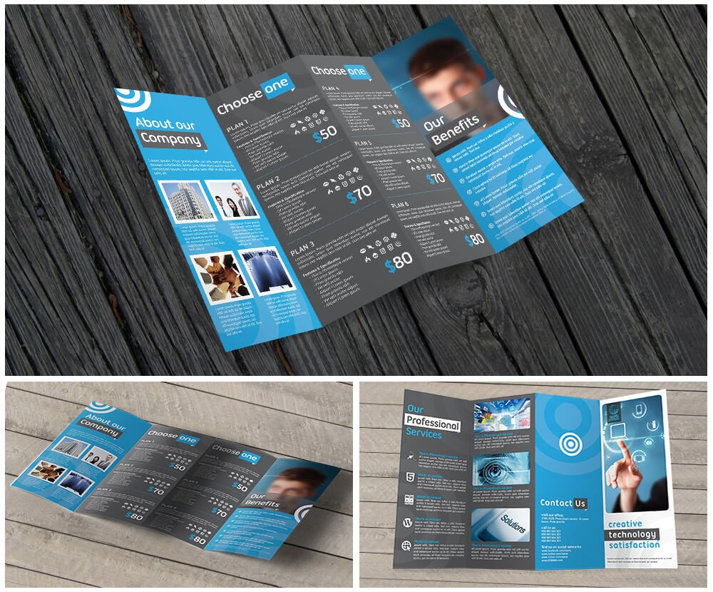 11X17 Quad Fold Brochure Printing With Regard To Quad Fold Brochure Template