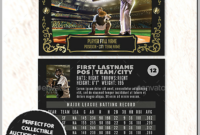 12+ Baseball Trading Card Designs & Templates – Psd, Ai in Baseball Card Template Psd
