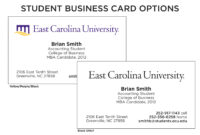12 Best Photos Of Student Business Card Templates Free within Student Business Card Template
