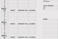 12+ Blank Workout Log Sheet Templates To Track Your Progress pertaining to Blank Workout Schedule Template