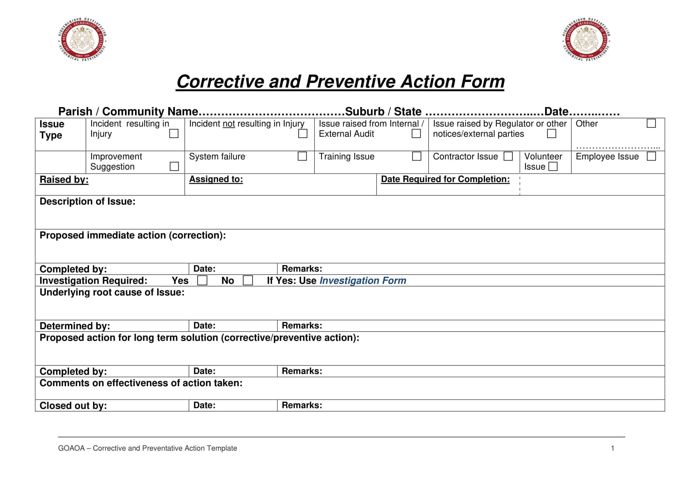 12+ Corrective Action Report Examples - Pdf | Examples inside Fracas Report Template