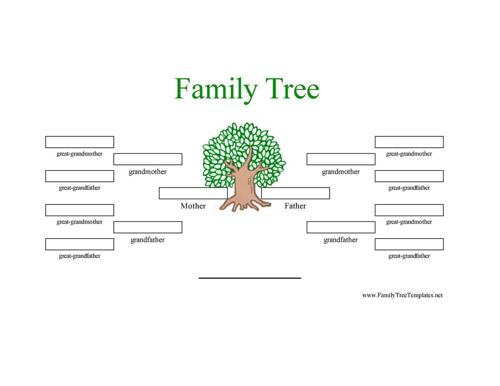 12 Generation Family Tree Sample | Generations Family Tree With Blank Family Tree Template 3 Generations