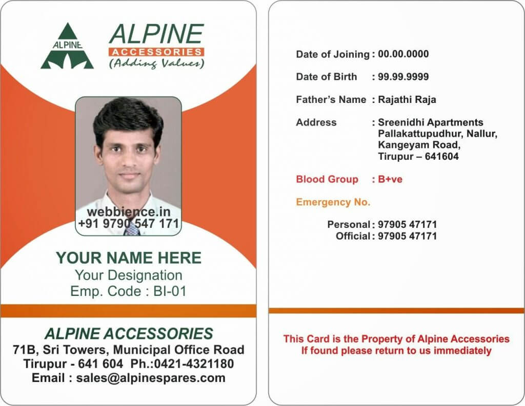 12+ Id Card Pass Samples | Letter Adress Throughout Sample Of Id Card Template