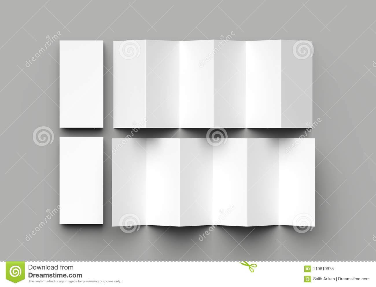 12 Page Leaflet, 6 Panel Accordion Fold - Z Fold Vertical throughout 6 Panel Brochure Template