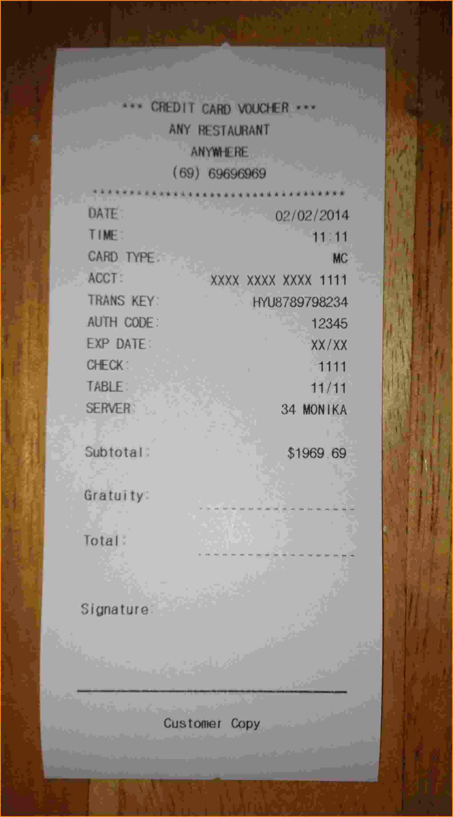 12 Store Receipt Template Invoice Template Download (Fake with regard to Fake Credit Card Receipt Template