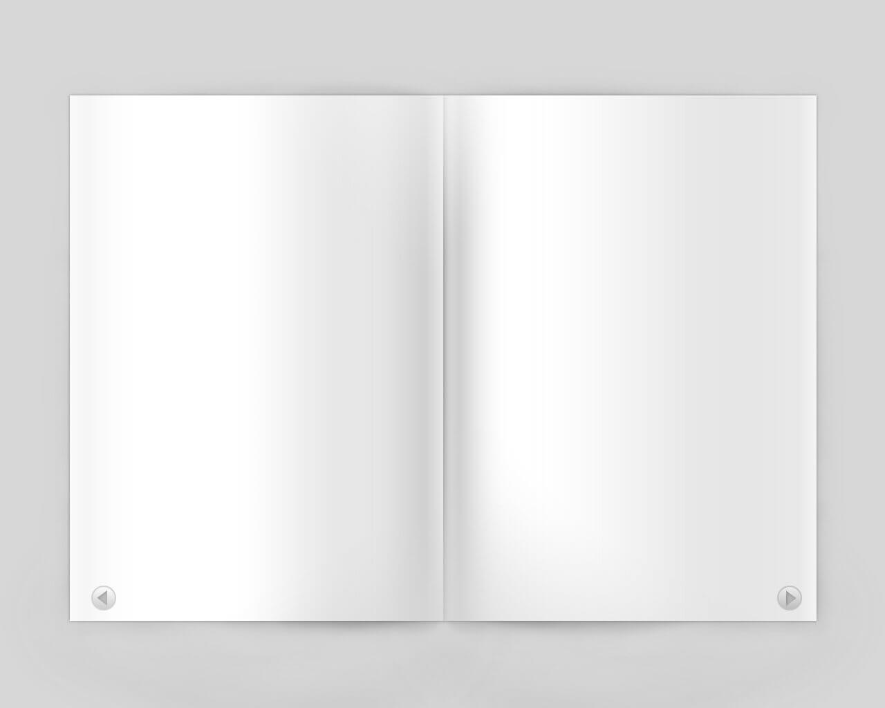 13 Magazine Page Psd Template Images - Page Design intended for Blank Magazine Spread Template