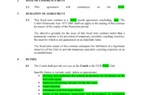 13+ Sports Coach Contract Example Templates – Docs, Word intended for Coaches Report Template