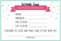 14+ Adoption Certificate Templates   Proto Politics regarding Toy Adoption Certificate Template