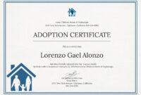 14+ Adoption Certificate Templates   Proto Politics with Adoption Certificate Template