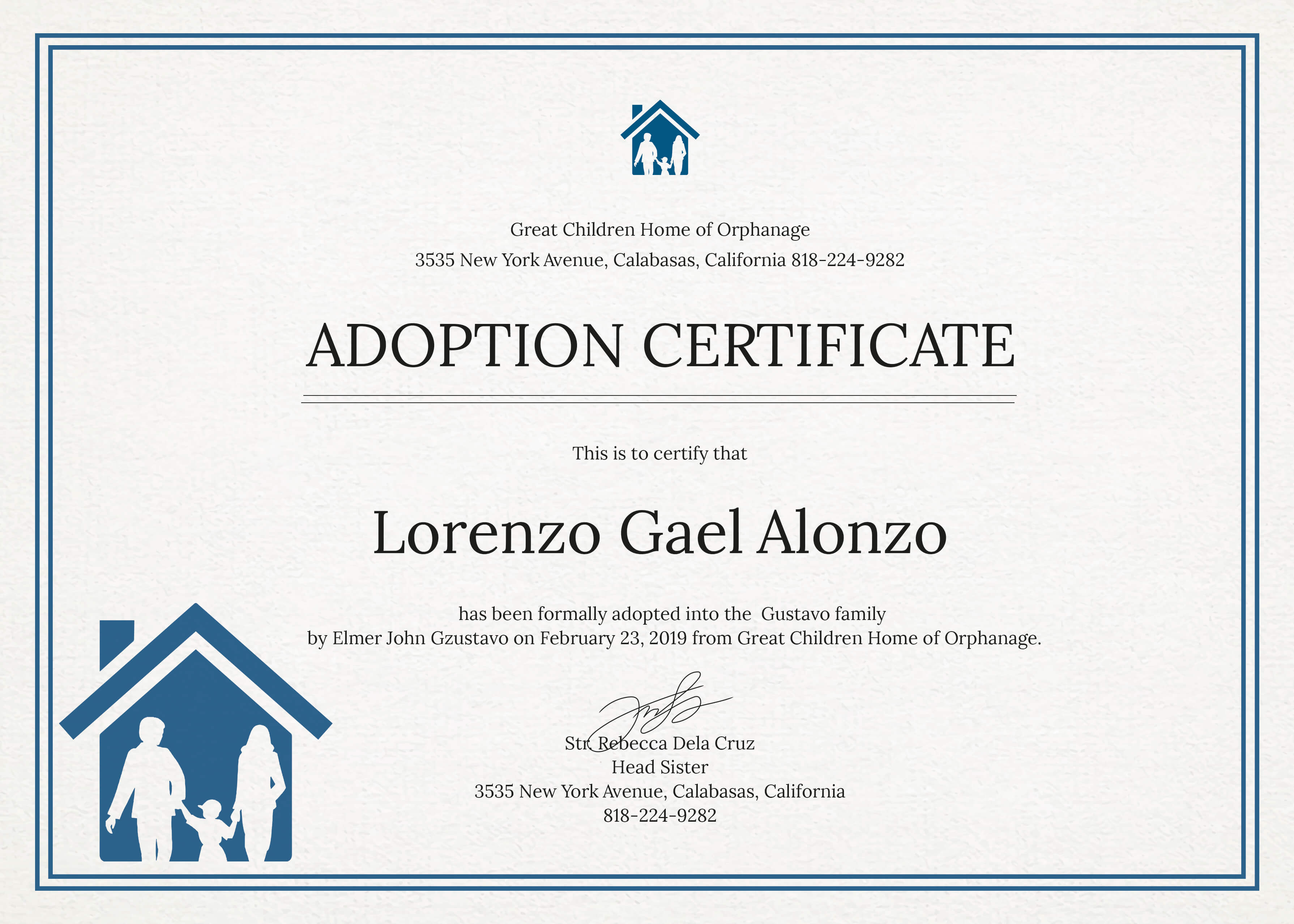 14+ Adoption Certificate Templates | Proto Politics with Adoption Certificate Template