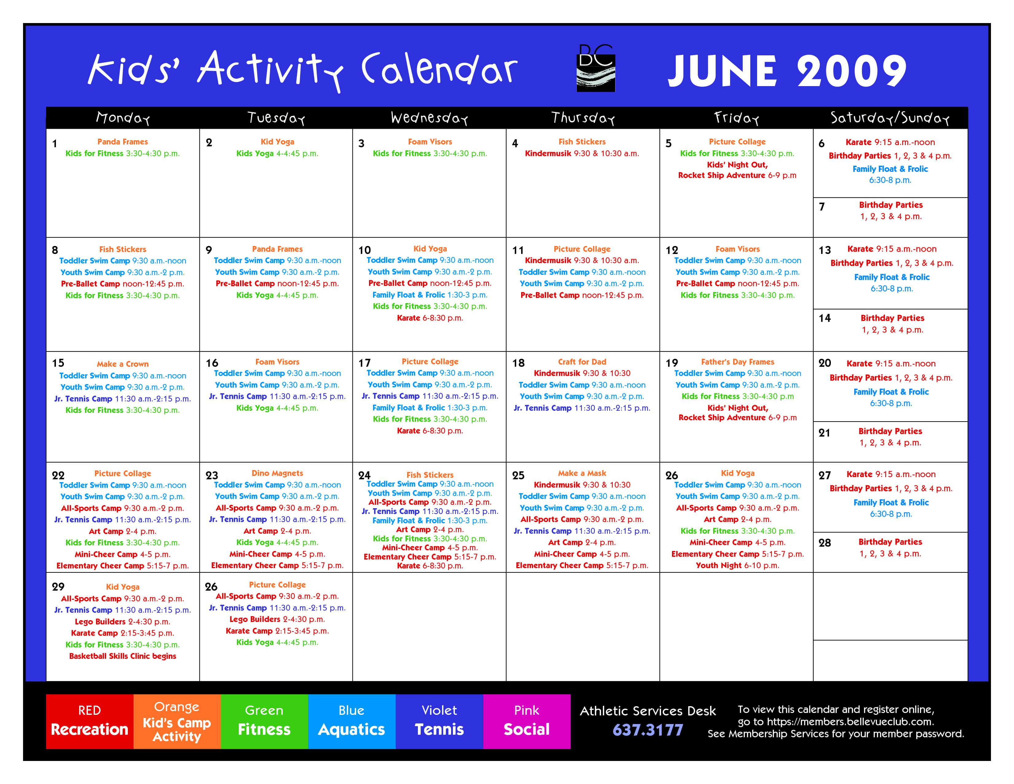 14 Blank Activity Calendar Template Images - Printable Blank regarding Blank Activity Calendar Template