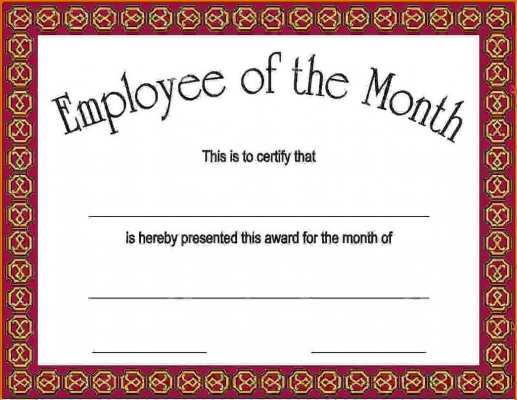 14+ Employee Of The Month Certificate Template | This Is pertaining to Employee Of The Month Certificate Templates
