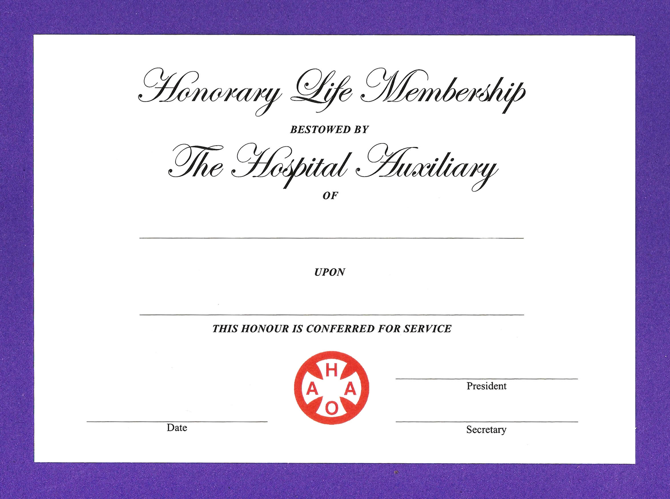 14+ Honorary Life Certificate Templates – Pdf, Docx | Free Intended For Life Membership Certificate Templates