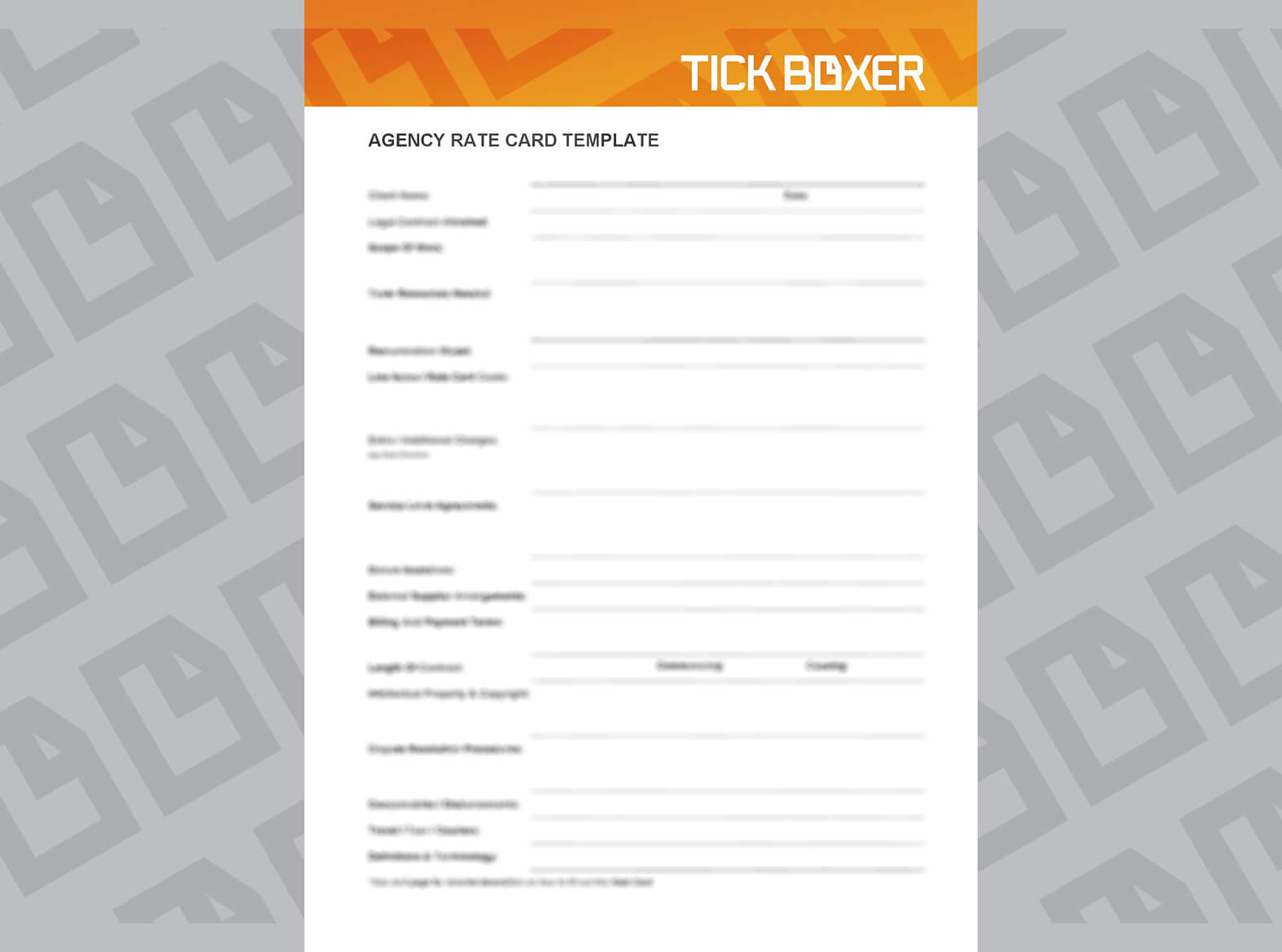 14 Images Of Ad Agency Scorecard Template | Zeept inside Advertising Rate Card Template
