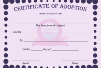 15+ Adoption Certificate Templates | Free Printable Word for Girl Birth Certificate Template