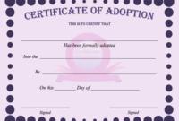 15+ Adoption Certificate Templates   Free Printable Word with Toy Adoption Certificate Template