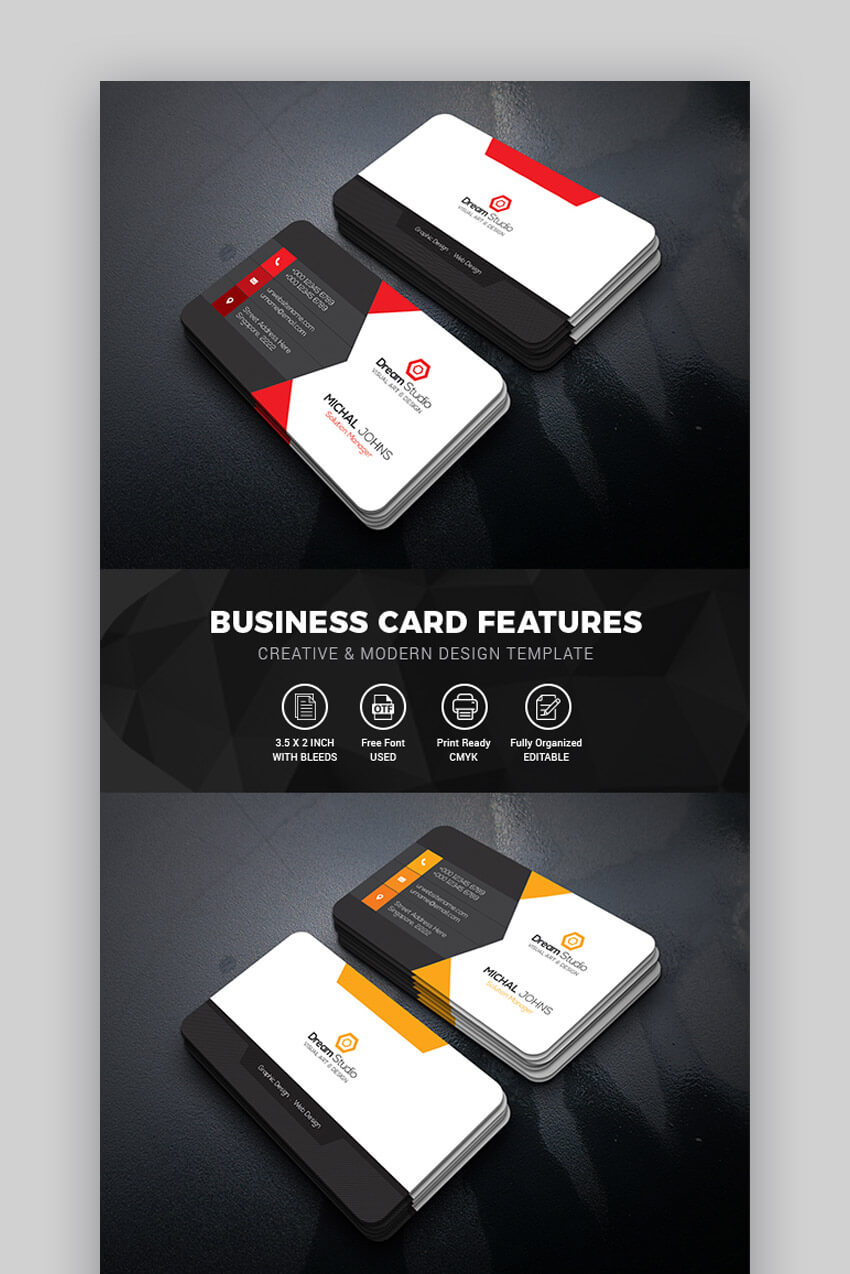 15+ Best Free Photoshop Psd Business Card Templates inside Blank Business Card Template Photoshop