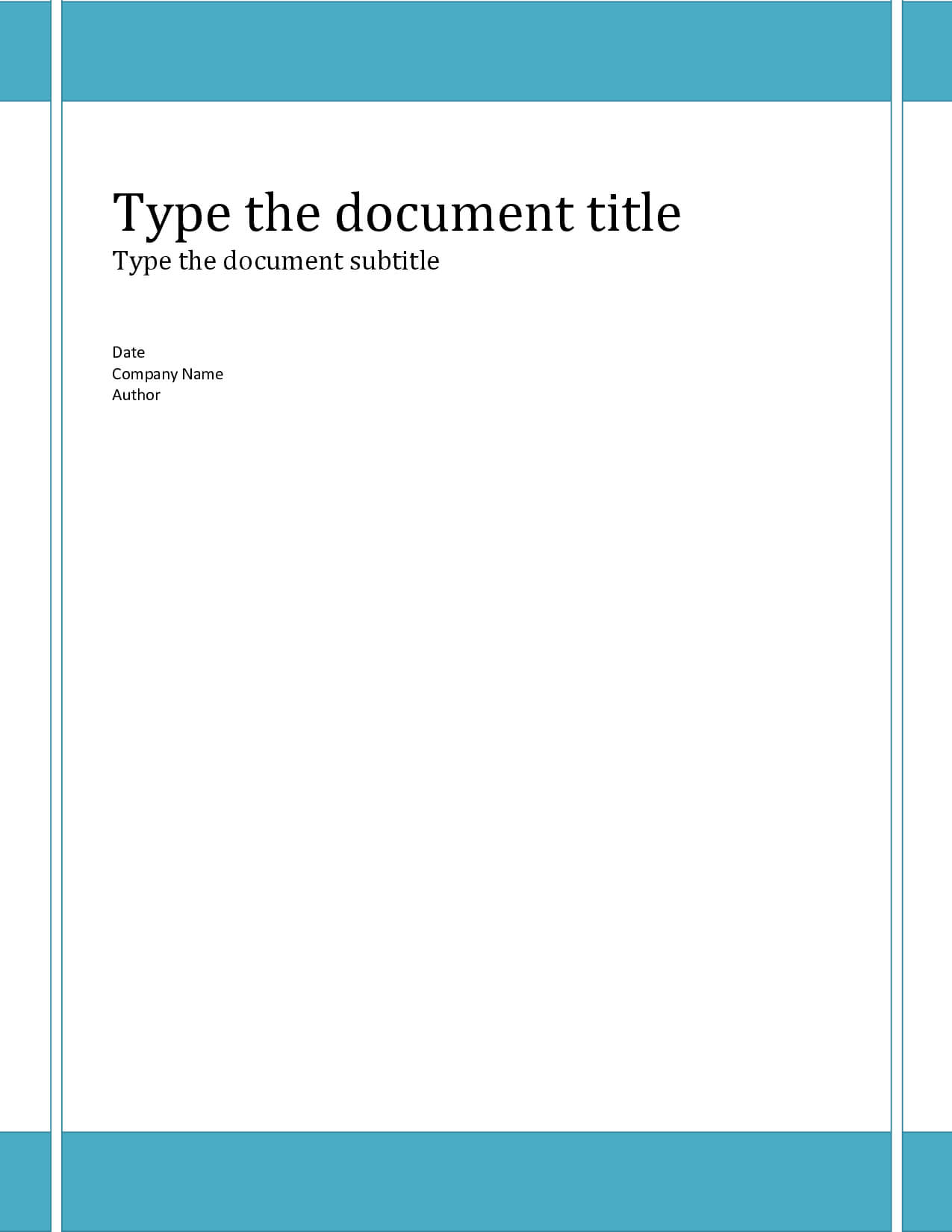 15 Cover Page Template Microsoft Word Images – Report Cover In Report Cover Page Template Word