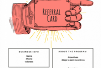 15 Examples Of Referral Card Ideas And Quotes That Work with Referral Card Template