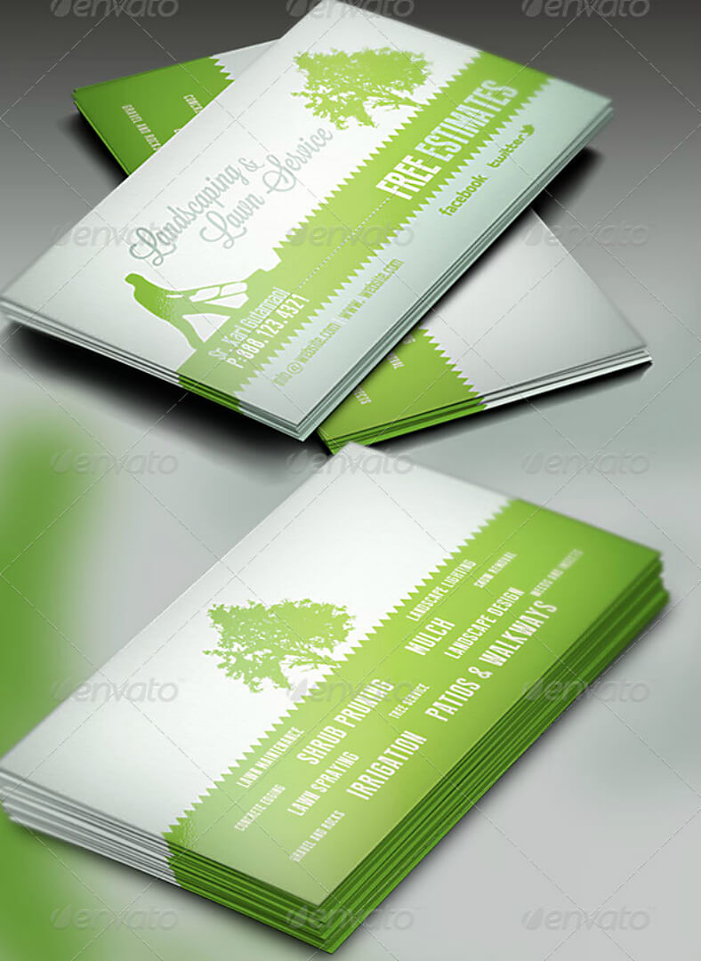 15+ Landscaping Business Card Templates - Word, Psd | Free intended for Gardening Business Cards Templates