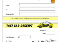 16+ Free Taxi Receipt Templates – Make Your Taxi Receipts Easily pertaining to Blank Taxi Receipt Template