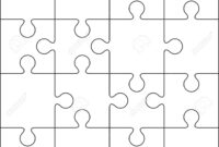 16 Jigsaw Puzzle Blank Template Or Cutting Guidelines pertaining to Blank Jigsaw Piece Template