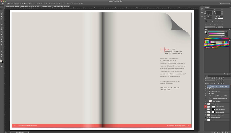 16 Magazine Template Photoshop Images - Free Photoshop for Blank Magazine Template Psd