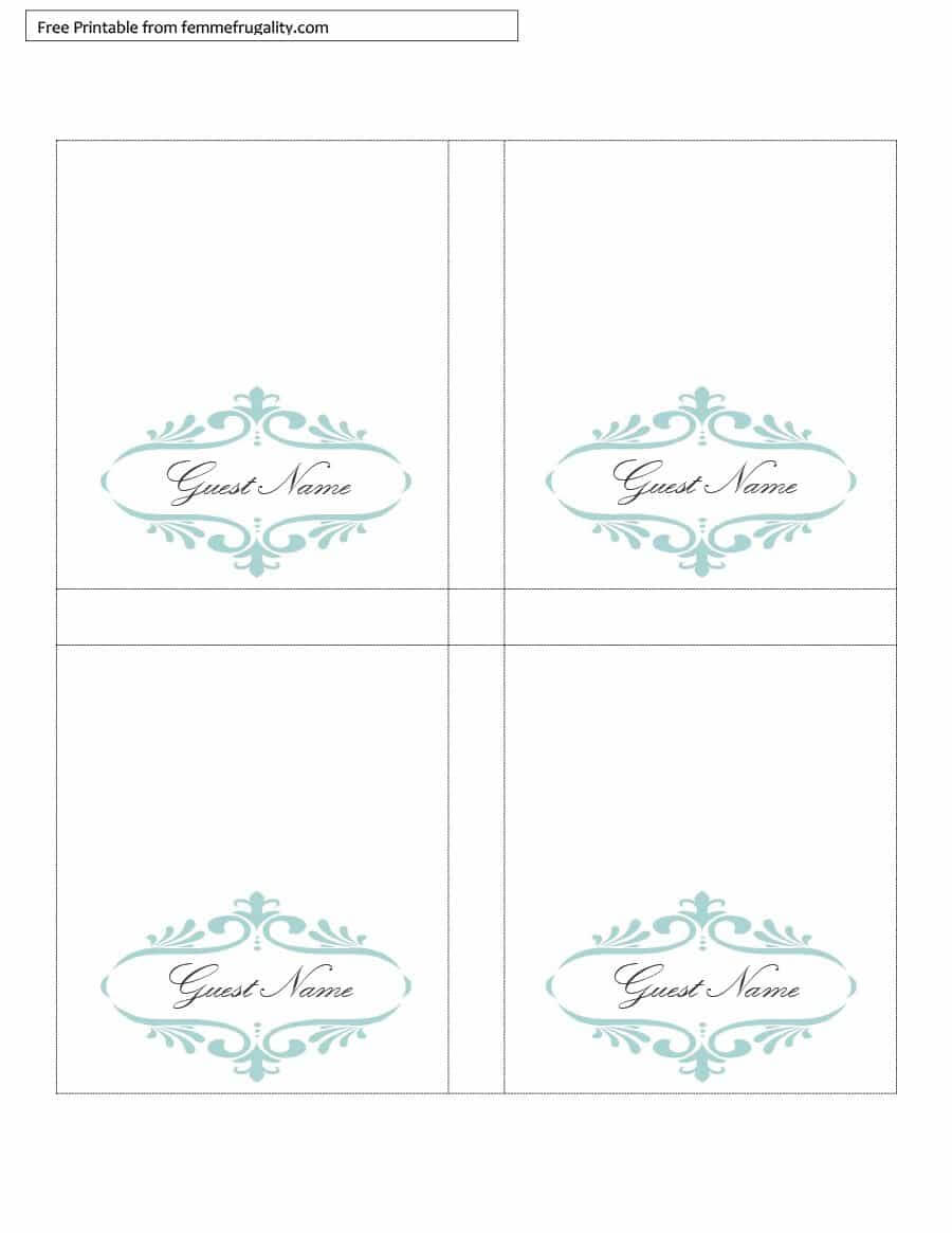 16 Printable Table Tent Templates And Cards ᐅ Template Lab For Free Tent Card Template Downloads