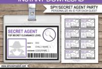 17 Images Of Secret Service Notebook Template | Jackmonster Inside Mi6 Id Card Template