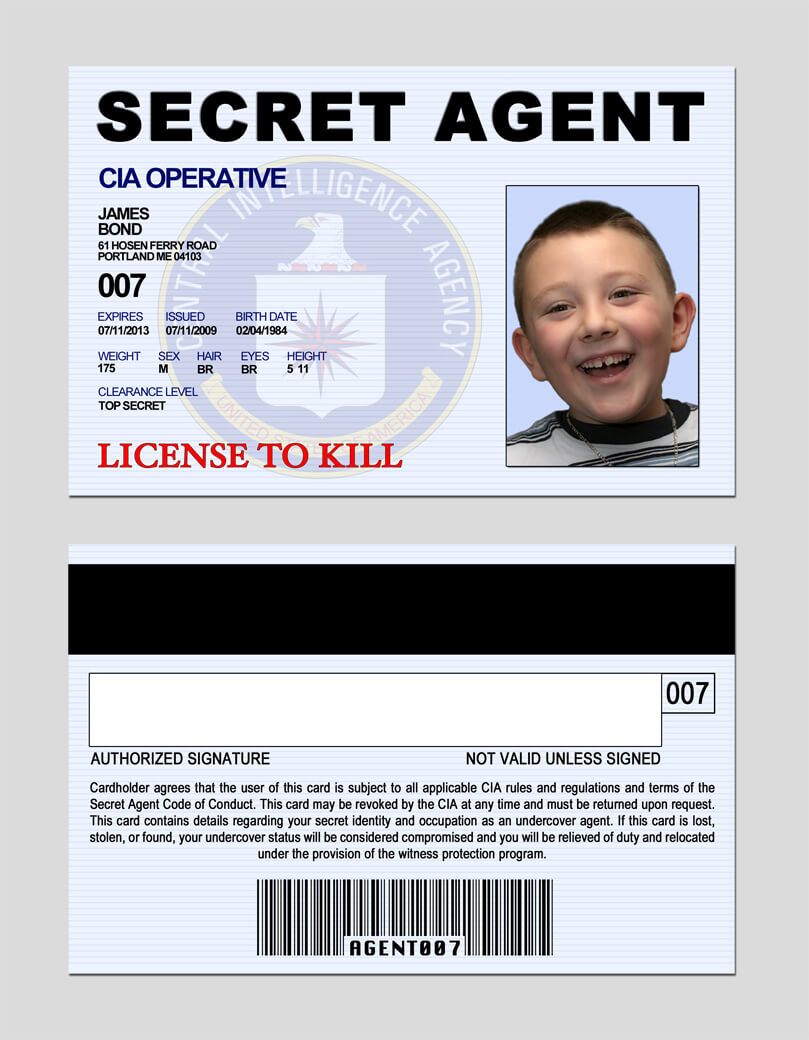 17 Images Of Secret Service Notebook Template | Jackmonster within Mi6 Id Card Template