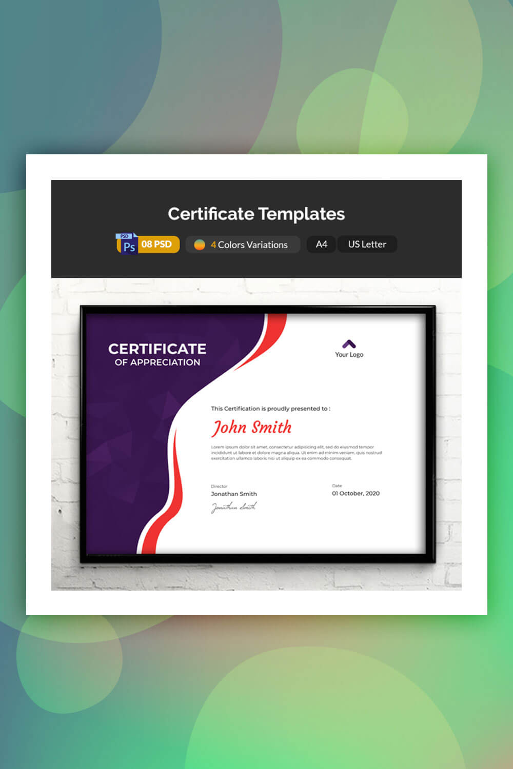 19 Attention-Grabbing Certificate Templates - Colorlib pertaining to No Certificate Templates Could Be Found