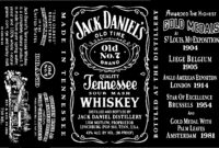 19 New Blank Jack Daniels Label Within Blank Jack Daniels Label Template