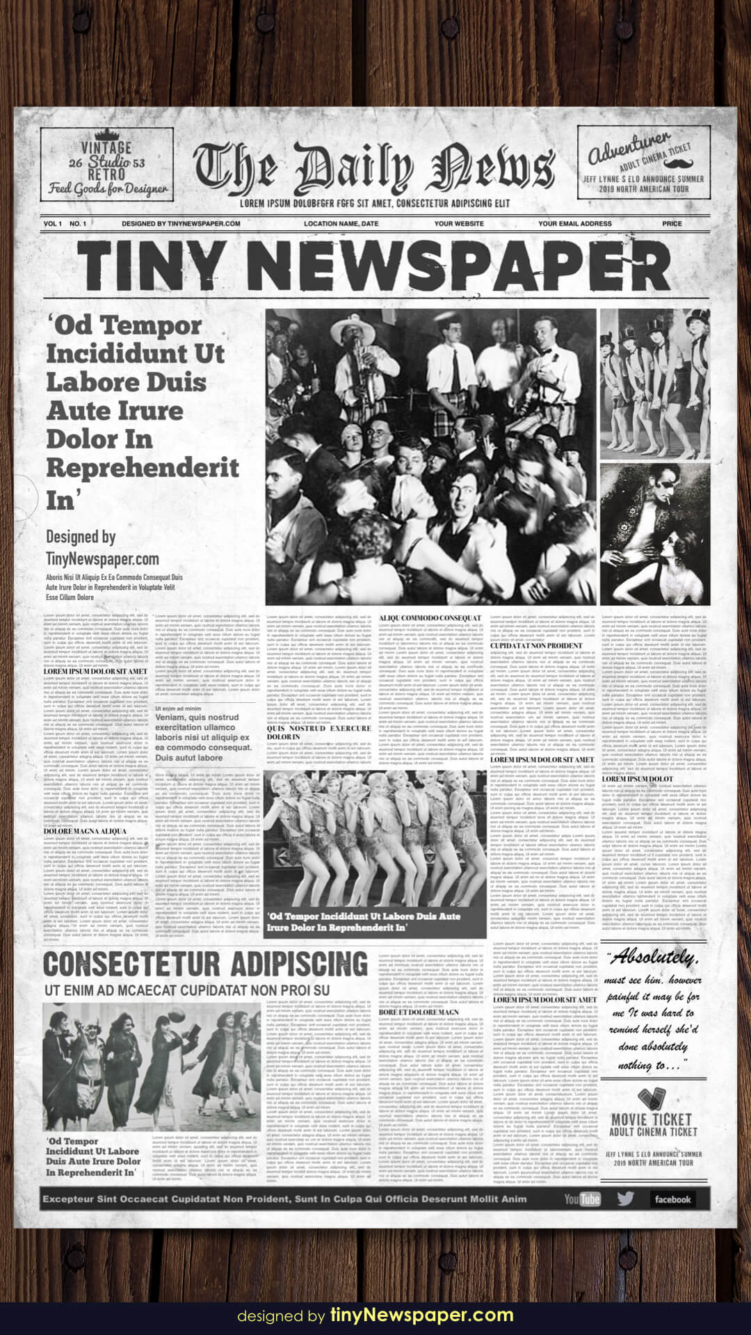 1920's Vintage Newspaper Template Word For Old Newspaper Template Word Free