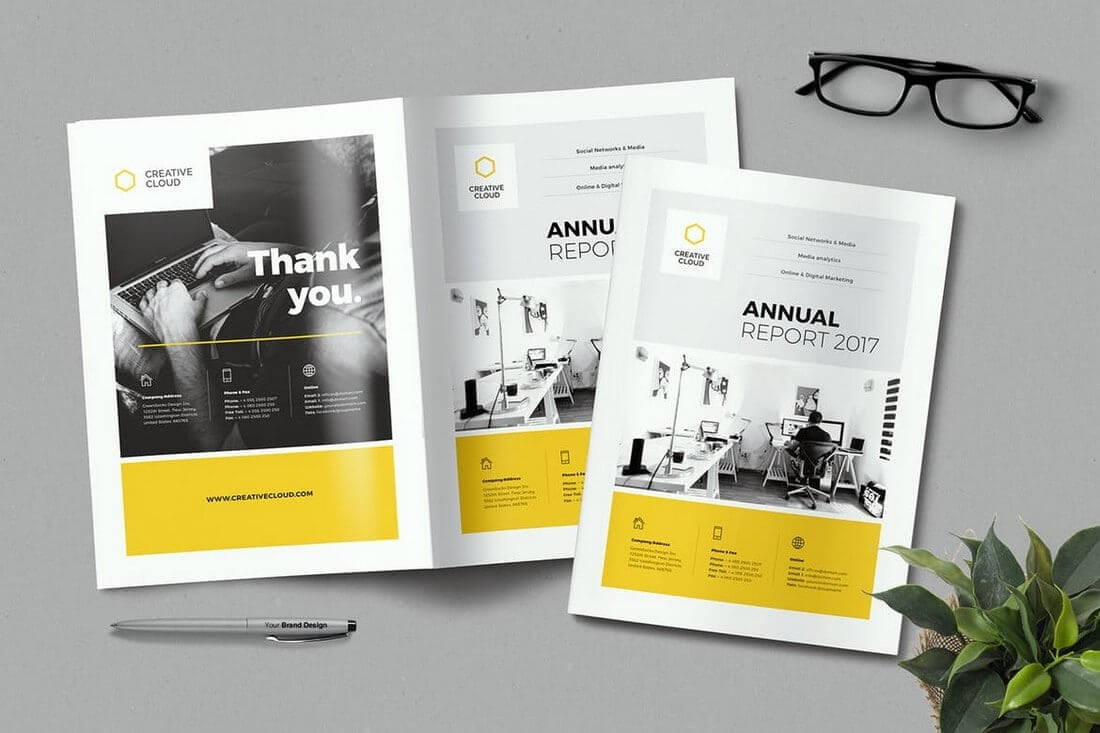 20+ Annual Report Templates (Word & Indesign) 2018 Throughout Annual Report Word Template