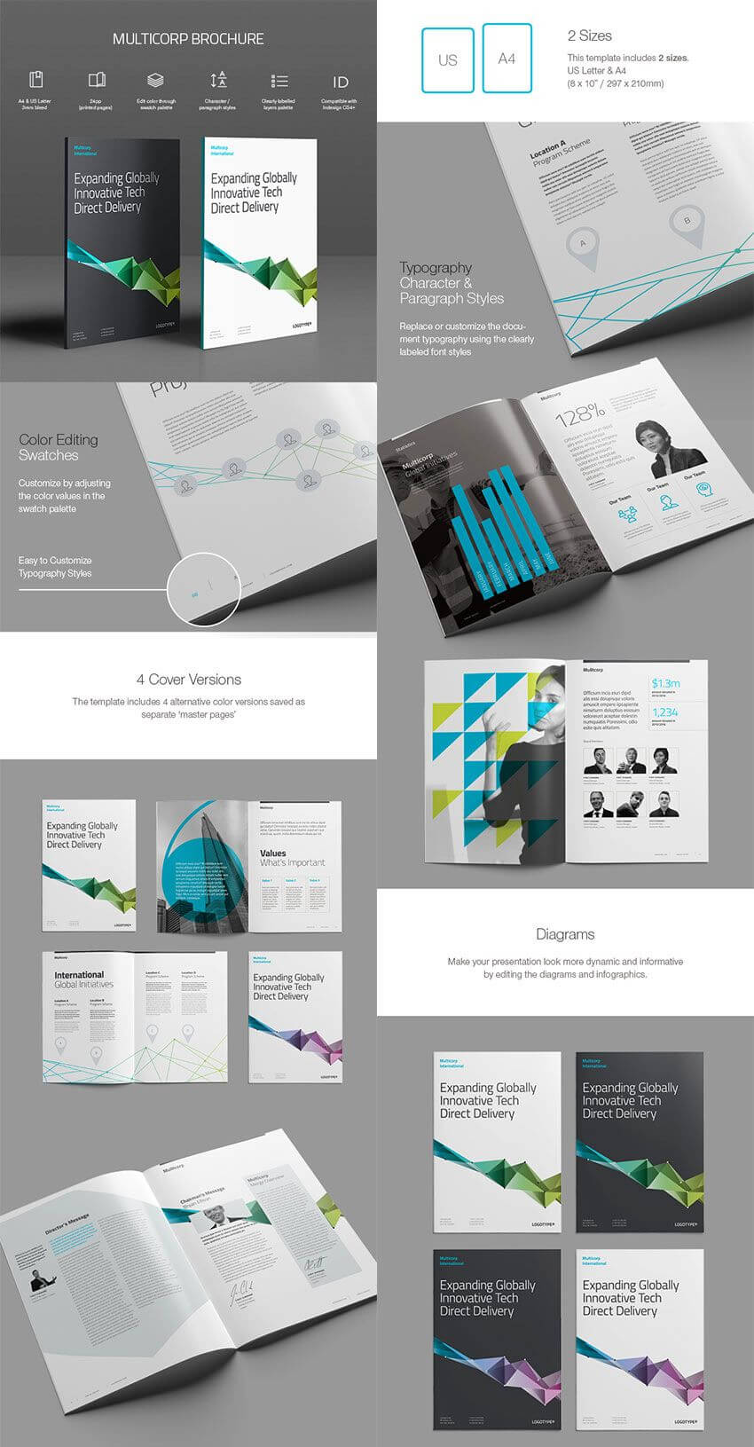 20 Best Indesign Brochure Templates - For Creative Business within Brochure Template Indesign Free Download