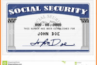 20+ Blank Social Security Card Template in Blank Social Security Card Template